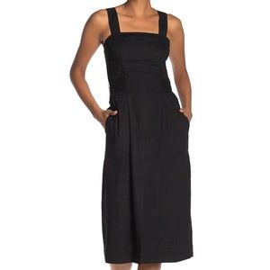 NWT Vince Belted Linen Blend Dress